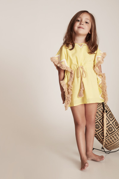 KAFTAN KIDS YELLOW (COMPAÑERO AL VESTIDO BEACH YELLOW)