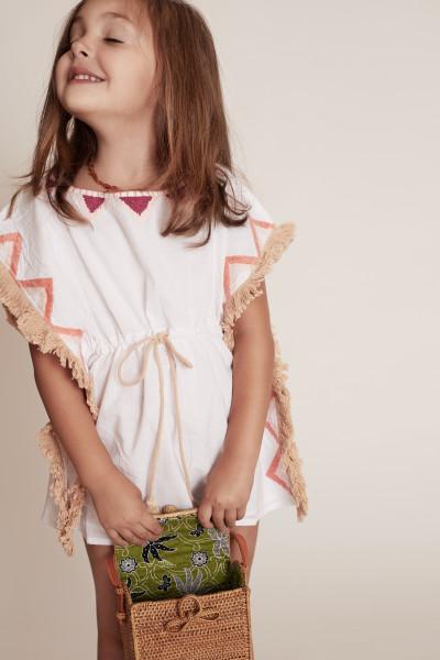 KAFTAN KIDS WHITE (COMPAÑERO AL VESTIDO BEACH MULTI)
